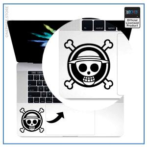 One Piece Laptop Sticker  Jolly Roger OP1505 Air 11 inch / Black Official One Piece Merch