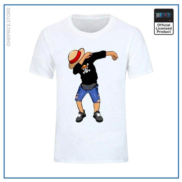 One Piece Shirt  Luffy Dab OP1505 White / S Official One Piece Merch