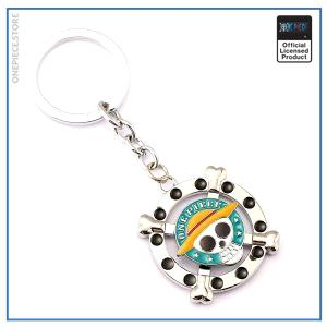 One Piece Keychain   Straw Hat Jolly Roger OP1505 Default Title Official One Piece Merch