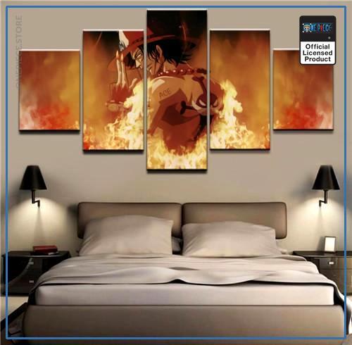 One Piece Wall Art  Portgas D Ace OP1505 Medium / No Frame Official One Piece Merch