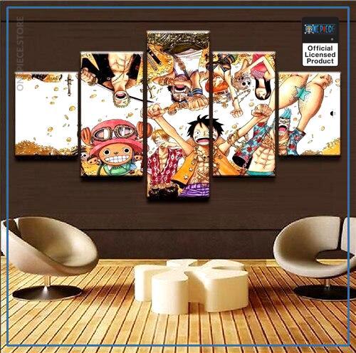 One Piece Wall Art  Straw Hat Crew OP1505 Medium / No Frame Official One Piece Merch