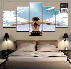 One Piece Wall Art  Ace Blue Sky OP1505 Medium / No Frame Official One Piece Merch