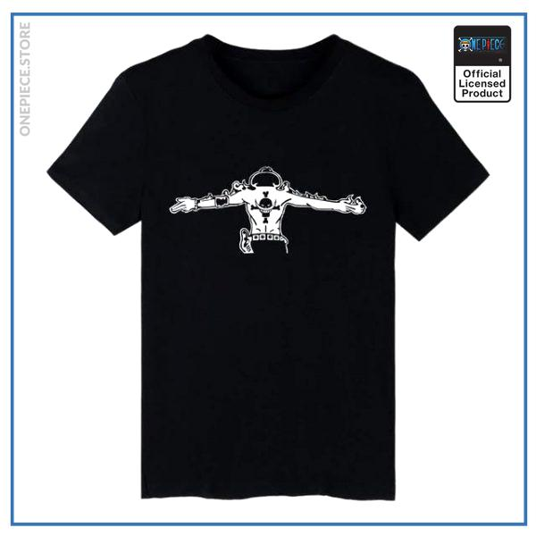 One Piece Shirt  Portgas D Ace OP1505 Black / S Official One Piece Merch