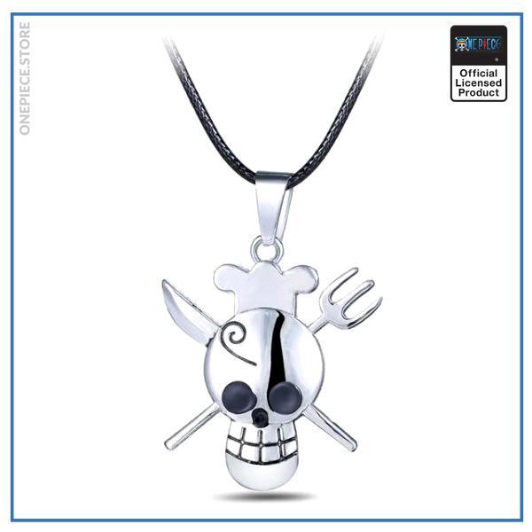 One Piece Necklace  Sanji Jolly Roger OP1505 Default Title Official One Piece Merch