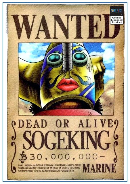 One Piece Wanted Poster  Sogeking Bounty OP1505 30cmX21cm Official One Piece Merch