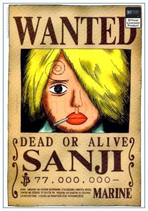 One Piece Wanted Poster  Sanji First Bounty OP1505 30cmX21cm Official One Piece Merch