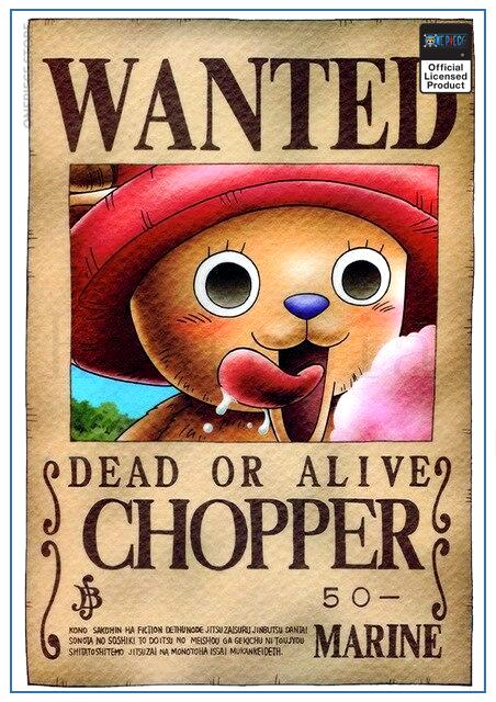 One Piece Wanted Poster  Tony Tony Chopper Bounty OP1505 30cmX21cm Official One Piece Merch