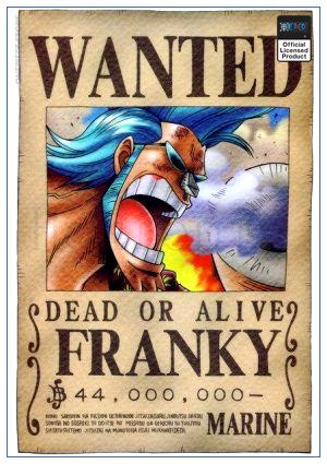 One Piece Wanted Poster  Franky Bounty OP1505 30cmX21cm Official One Piece Merch