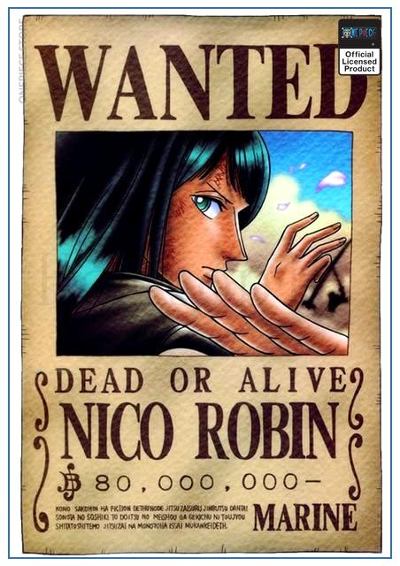 One Piece Wanted Poster  Robin Bounty OP1505 30cmX21cm Official One Piece Merch