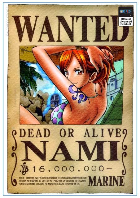 One Piece Wanted Poster  Nami First Bounty OP1505 30cmX21cm Official One Piece Merch