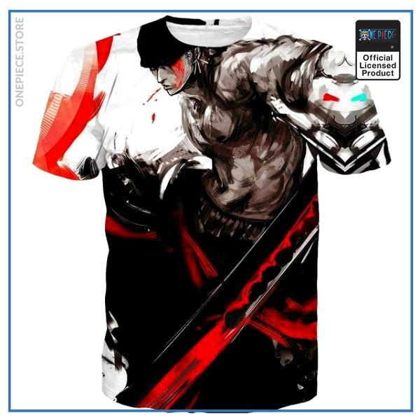 One Piece Shirt  Zoro (Red) OP1505 S Official One Piece Merch