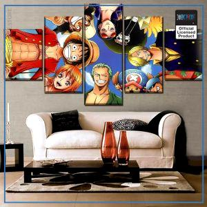 One Piece Wall Art  Smiling Straw Hat Pirates OP1505 Small / No Framed Official One Piece Merch