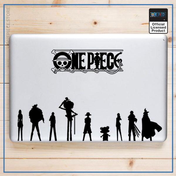 One Piece Laptop Sticker  Straw Hat Crew OP1505 Air 11 inch / Black Decal Official One Piece Merch