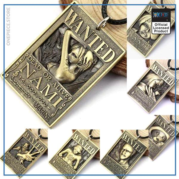 One Piece Necklace  Straw Hat Pirates OP1505 Luffy Official One Piece Merch