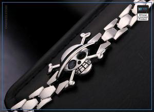 One Piece Bracelet  Mugiwara Silver Jolly Roger OP1505 Default Title Official One Piece Merch