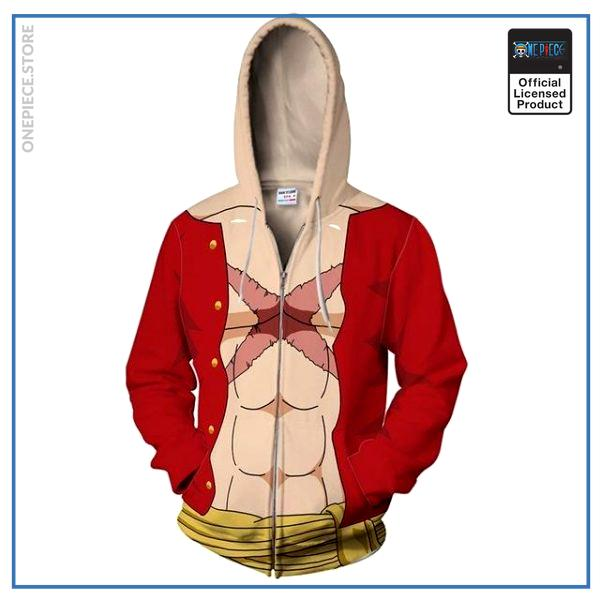 One Piece Hoodie  Anime Luffy OP1505 S Official One Piece Merch