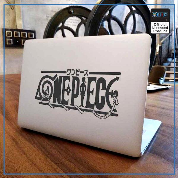 One Piece Laptop Sticker  One Piece x Naruto OP1505 For 11 inch laptop / Black Decal Official One Piece Merch