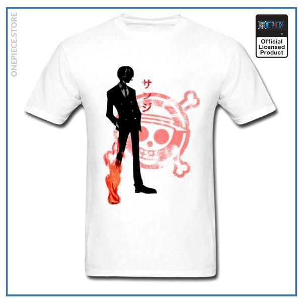 One Piece Shirt  Sanji OP1505 White / S Official One Piece Merch