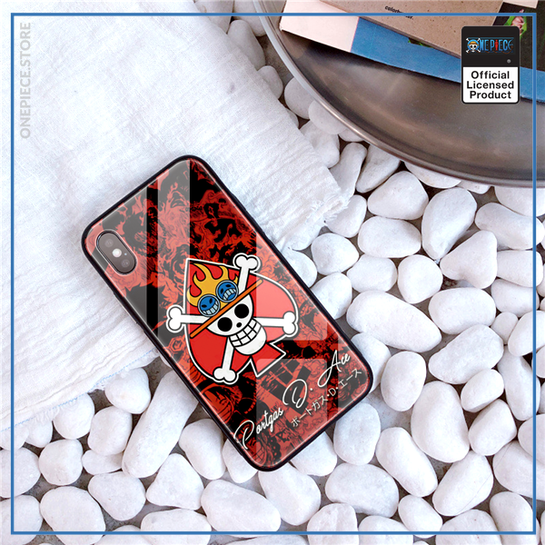 One Piece iPhone Case  Ace Jolly Roger OP1505 For iPhone 6, 6S Official One Piece Merch