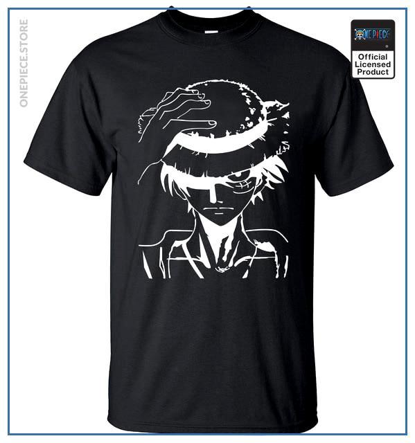 One Piece Shirt  Luffy OP1505 Black / S Official One Piece Merch