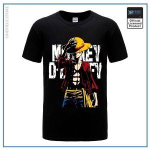 One Piece Shirt  Monkey D Luffy OP1505 Black / S Official One Piece Merch