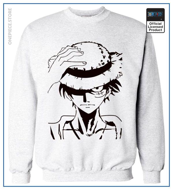 One Piece Sweater  Luffy OP1505 Grey / S Official One Piece Merch