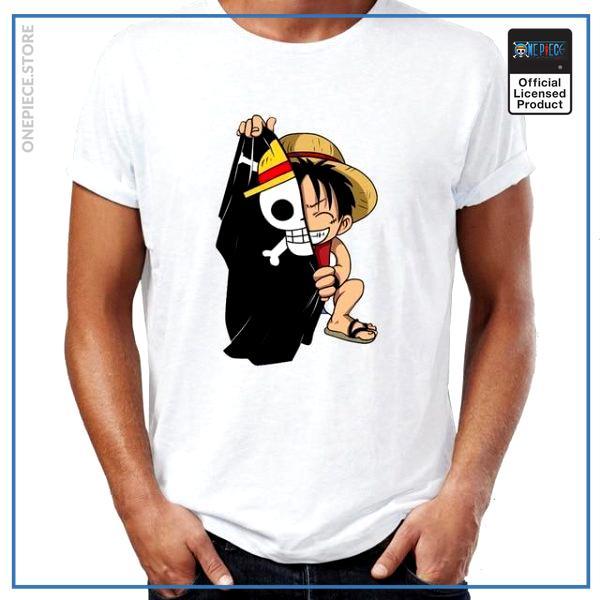 One Piece Shirt  Hiding Luffy OP1505 S Official One Piece Merch