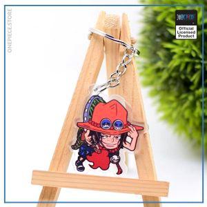 One Piece Keychain  Ace OP1505 Default Title Official One Piece Merch