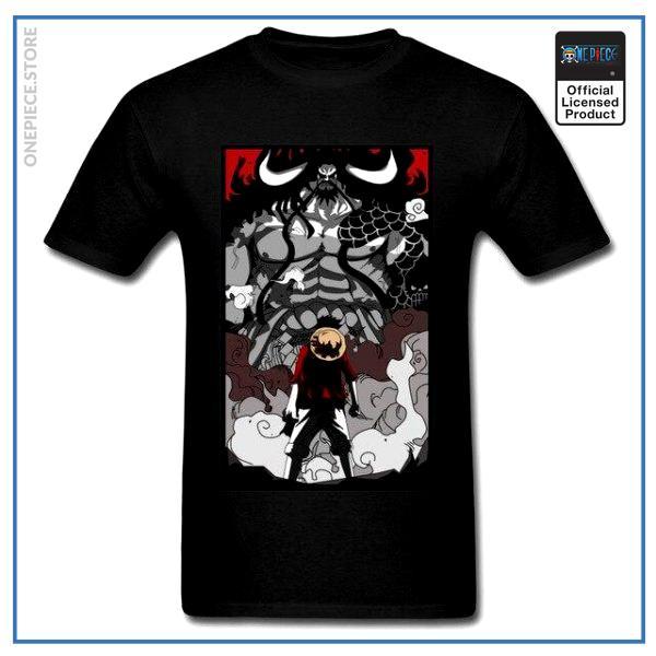 One Piece Shirt  Luffy vs Kaido OP1505 Black / S Official One Piece Merch