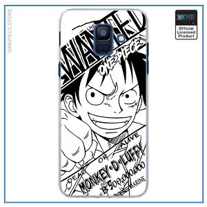 One Piece Phone Case Samsung  Luffy Wanted OP1505 for A6 2018 Official One Piece Merch
