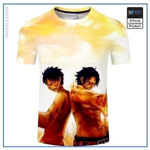 One Piece Shirt  Ace & Luffy OP1505 S Official One Piece Merch