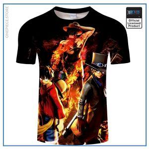 One Piece Shirt  Luffy & Sabo & Ace OP1505 S Official One Piece Merch