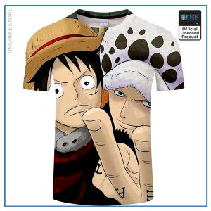 One Piece Shirt  Luffy & Law OP1505 S Official One Piece Merch