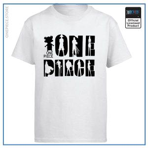 One Piece Shirt  White and Black OP1505 White / S Official One Piece Merch
