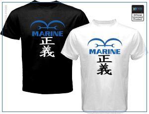 One Piece Shirt  Marine OP1505 Black / S Official One Piece Merch