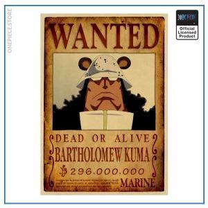 One Piece Wanted Poster  Bartholomew Kuma Bounty OP1505 Default Title Official One Piece Merch