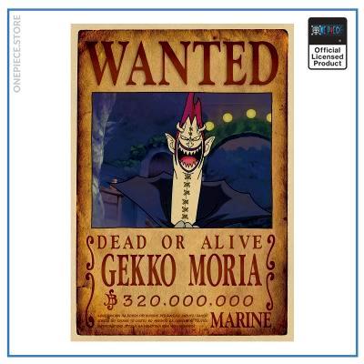 One Piece Wanted Poster  Gecko Moria Bounty OP1505 Default Title Official One Piece Merch