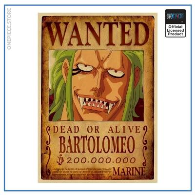 One Piece Wanted Poster  Bartolomeo Bounty OP1505 Default Title Official One Piece Merch