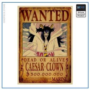 One Piece Wanted Poster  Caesar Clown Bounty OP1505 Default Title Official One Piece Merch