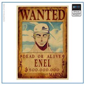 One Piece Wanted Poster  Enel Bounty OP1505 Default Title Official One Piece Merch