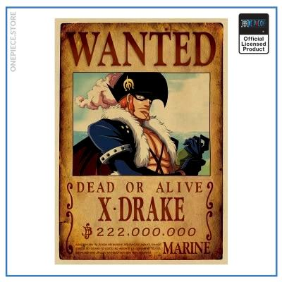 One Piece Wanted Poster  X Drake Bounty OP1505 Default Title Official One Piece Merch
