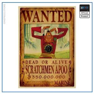 One Piece Wanted Poster  Scratchmen Apoo Bounty OP1505 Default Title Official One Piece Merch