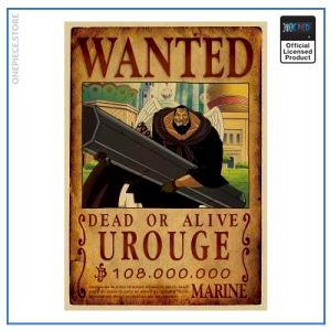 One Piece Wanted Poster  Urouge Bounty OP1505 Default Title Official One Piece Merch