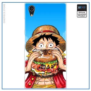 One Piece Sony Case  Luffy Eat a Burger OP1505 for Sony Z5 Official One Piece Merch