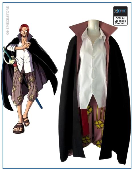One Piece Costume  Shanks Costume OP1505 Male Size / S Official One Piece Merch