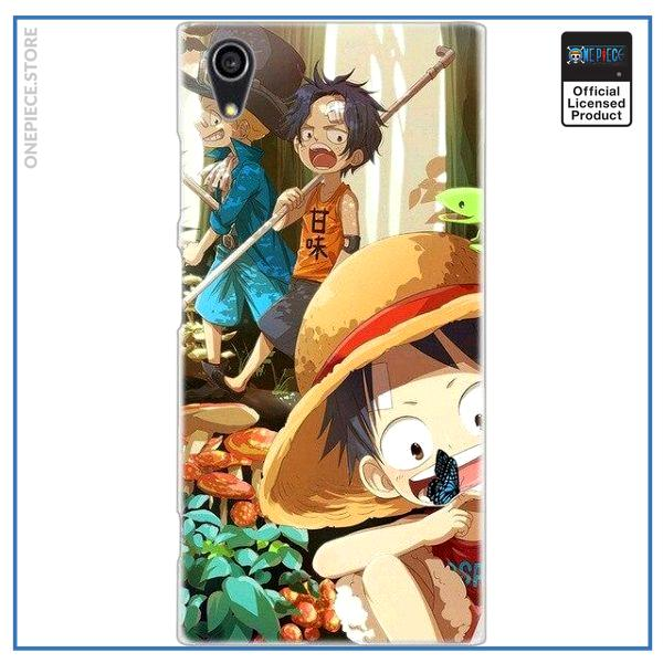One Piece Sony Case  Luffy Ace Sabo OP1505 Xperia XZ (XZS) (XR) Official One Piece Merch