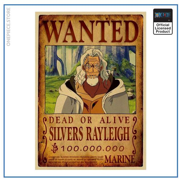 One Piece Wanted Poster  Silvers Rayleigh Bounty OP1505 Default Title Official One Piece Merch