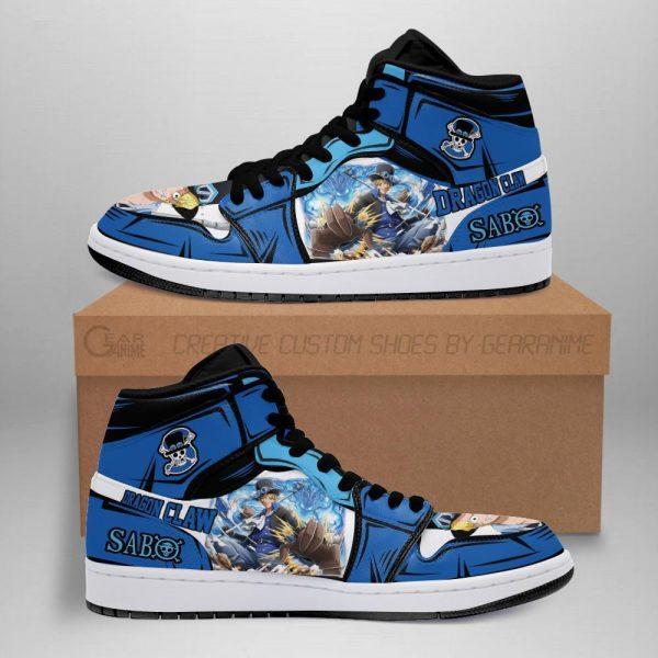 sabo jordan sneakers one piece anime shoes fan gift mn06 - One Piece Store