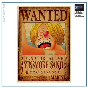 One Piece Wanted Poster  Sanji Bounty OP1505 Default Title Official One Piece Merch