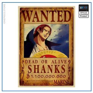 One Piece Wanted Poster  Red Hair Shanks Bounty OP1505 Default Title Official One Piece Merch